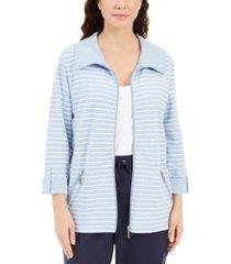 karen scott striped jacket, created for macy's