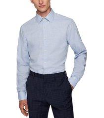 boss men's long-sleeved slim-fit shirt