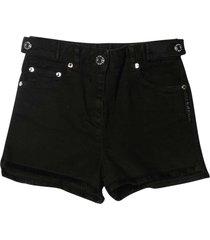 givenchy black denim shorts