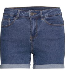 vmhot seven nw dnm fold shorts mix noos shorts denim shorts blå vero moda