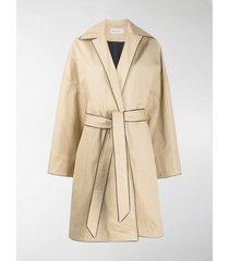 balenciaga contrast trim trench coat