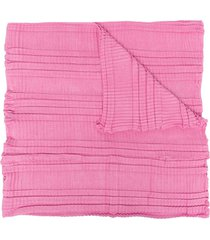 emporio armani long pleated scarf - pink