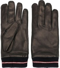 bally ribbed cuff gloves - black