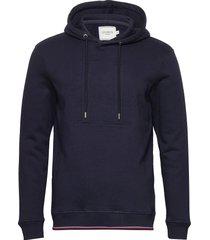 embossed encore hoodie hoodie trui blauw les deux