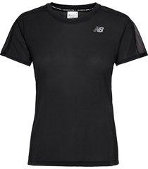 impact run ss t-shirts & tops short-sleeved svart new balance
