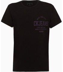 camiseta masculina infantil estampa live life preta calvin klein jeans - 2