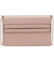 women's jenn clutch faux leather convertible rose water from sole society