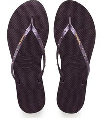 sandalias havaianas  slim nautical  morado  4140179