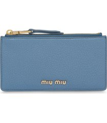 miu miu madras coin wallet - blue