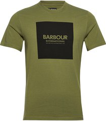 b.intl block tee t-shirts short-sleeved grön barbour