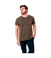 camiseta básica estonada olive salt 35g masculina