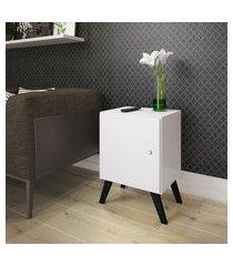 mesa cabeceira branco porta estilo retrô lilies móveis