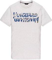 vanguard t-shirt wit met opdruk ronde hals