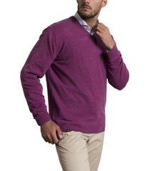 sweater cashmere morado rockford