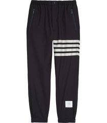 men's thom browne 4-bar wool track pants