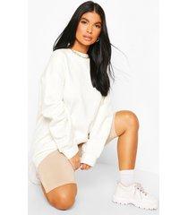 petite oversized sweater, ivory