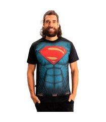 camiseta superman peitoral filme preto