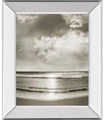 "classy art infinity by mike calascibetta mirror framed print wall art, 22"" x 26"""