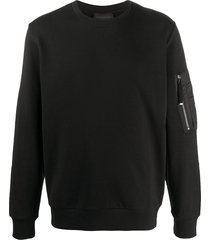 diesel black gold s-iridio multi-pocket sweatshirt