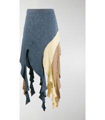 loewe asymmetric curl skirt