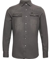3301 slim shirt ls overhemd casual grijs g-star raw