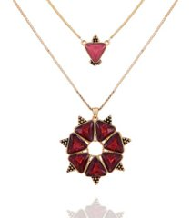 nanette nanette lepore beautifully berry layered pendant necklace