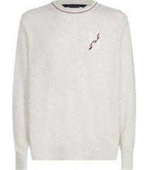 sweater texturado crudo tommy hilfiger