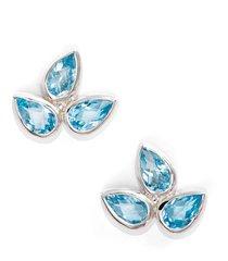 women's anzie micro bouquet white topaz post earrings