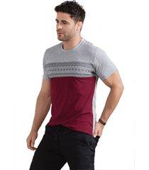 camiseta adulto masculino bicolor marketing personal