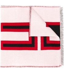 gucci intarsia-knit scarf - white