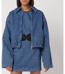 christopher kane women's sexual cannibalism jacket - blue - it 40/uk 8 - blue