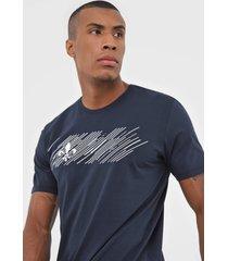camiseta dudalina linhas azul-marinho