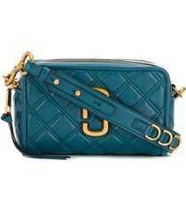 marc jacobs bolsa tiracolo 'the quilted softshot' - azul