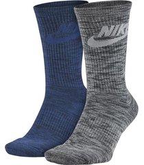 medias nike knit-azul/gris