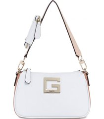 cartera kamryn shoulder bag blanco guess