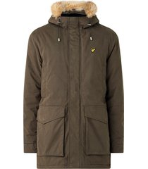 lyle and scott winter weight microfleece lined parka