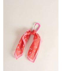 chaveiro lenço paisley - vermelho u