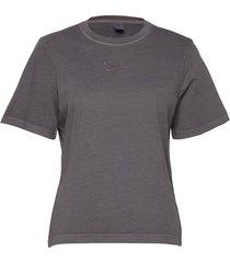 cl f washed tee t-shirts & tops short-sleeved grå reebok classics