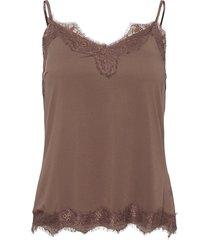 cc heart lace top t-shirts & tops sleeveless brun coster copenhagen