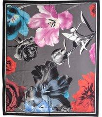 women's photo floral print scarf