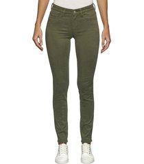 jeans midrise skinny verde calvin klein