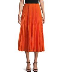 jason wu women's marocaine crepe pleated skirt - tangerine - size 6