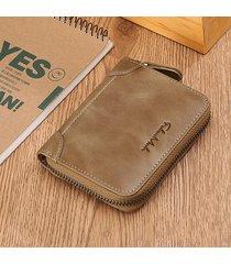 falanmule vera pelle portamonete con cerniera per portafogli porta carte portatile per uomo