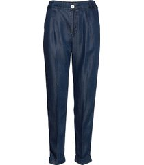 chino pant in drapey tencel indigo quality chino broek blauw scotch & soda