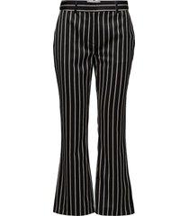 laurent trousers utsvängda byxor svart just female