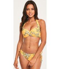 mid summer floral twist halter bikini top
