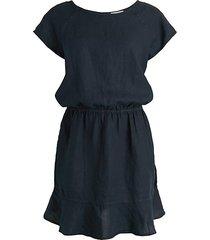quoara linen mini a-line dress