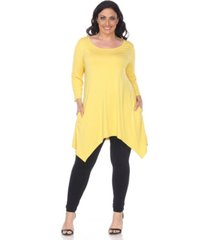 white mark plus size makayla tunic /top