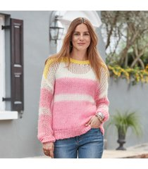 julia stripe pullover