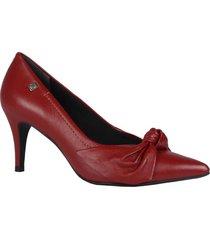 zapato tacon formales de color rojo para mujer material cuero marca loucos & santos loucos & santos - rojo